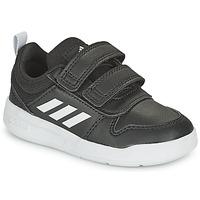 Boty Děti Nízké tenisky adidas Performance TENSAUR I Černá / Bílá