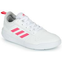 Boty Dívčí Nízké tenisky adidas Performance TENSAUR K Bílá / Růžová
