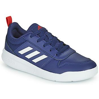 Boty Děti Nízké tenisky adidas Performance TENSAUR K Tmavě modrá / Bílá