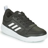 Boty Děti Nízké tenisky adidas Performance TENSAUR K Černá / Bílá