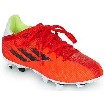 Boty Děti Fotbal adidas Performance X SPEEDFLOW.3 FG J Červená