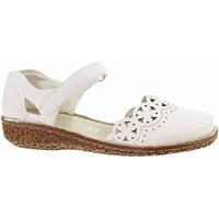 Boty Ženy Sandály Rieker Dámské sandály  M0956-80 weiss Bílá