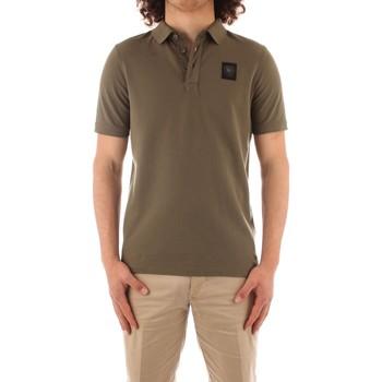 Textil Muži Polo s krátkými rukávy Blauer 21SBLUT02329 Zelená