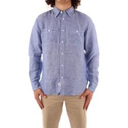 Textil Muži Košile s dlouhymi rukávy Blauer 21SBLUS01221 Modrá