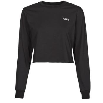 Textil Ženy Trička s dlouhými rukávy Vans JUNIOR V LS CROP Černá