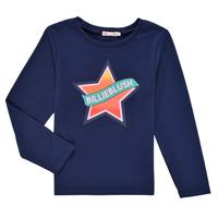 Textil Dívčí Trička s dlouhými rukávy Billieblush DEKOU Tmavě modrá