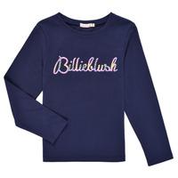 Textil Dívčí Trička s dlouhými rukávy Billieblush PETRA Tmavě modrá