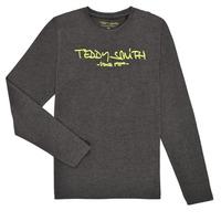Textil Chlapecké Trička s dlouhými rukávy Teddy Smith TICLASS3 ML Šedá