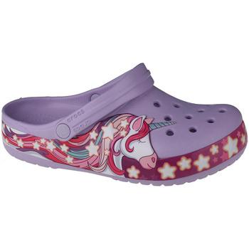 Boty Děti Pantofle Crocs Fun Lab Unicorn Band Clog Fialová