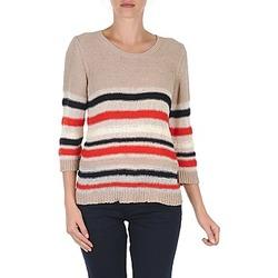 Textil Ženy Svetry S.Oliver ZARA Béžová / Modrá / Bílá / Oranžová