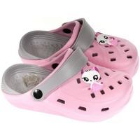 Boty Dívčí Pantofle John-C Detské ružové crocsy ELLI 30-35 ružová