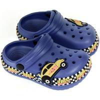 Boty Chlapecké Pantofle John-C Detské modré crocsy CAR modrá