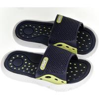 Boty Chlapecké pantofle John-C Detské modro-žlté šľapky IFAN tmavomodrá