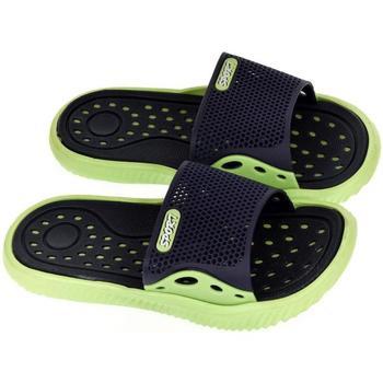 Boty Chlapecké pantofle John-C Detské modro-zelené šľapky IFAN tmavomodrá