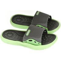 Boty Děti pantofle John-C Detské sivo-zelené šľapky IFAN tmavosivá