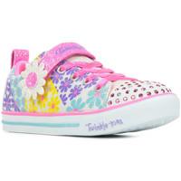 Boty Dívčí Nízké tenisky Skechers Sparkle Lite Super Blooms Růžová