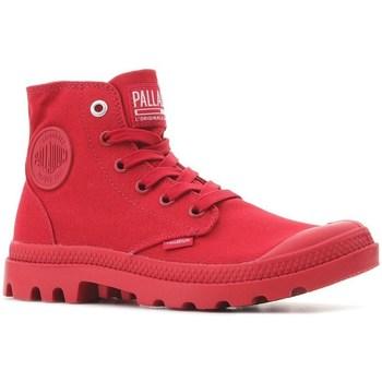 Boty Kotníkové tenisky Palladium Manufacture Pampa HI Mono U Červené
