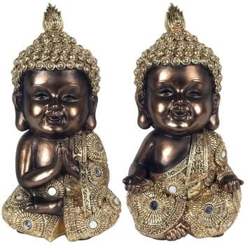 Bydlení Sošky a figurky Signes Grimalt Zlaté Buddhové V Září 2U Multicolor