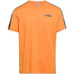 Textil Muži Trička s krátkým rukávem Diadora 502176085 Oranžový