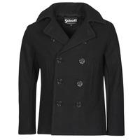 Textil Muži Kabáty Schott USS 20 Černá
