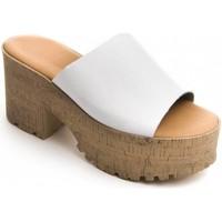 Boty Ženy Dřeváky Purapiel 71174 WHITE