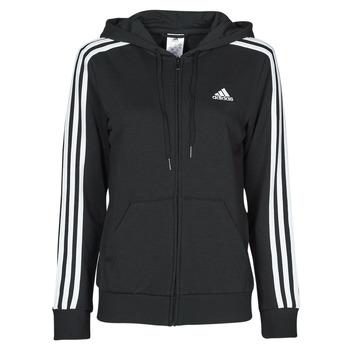 Textil Ženy Mikiny adidas Performance W 3S FT FZ HD Černá