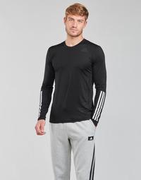 Textil Muži Trička s dlouhými rukávy adidas Performance TF LS FT 3S Černá