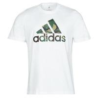Textil Muži Trička s krátkým rukávem adidas Performance M CAMO T Bílá