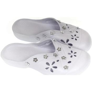 Boty Ženy Pantofle John-C Dámske biele šľapky KELIS biela
