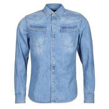 Textil Muži Košile s dlouhymi rukávy G-Star Raw 3301 SLIM SHIRT LS Modrá