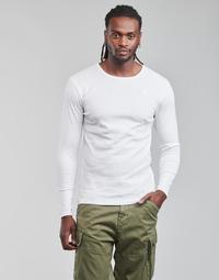 Textil Muži Trička s dlouhými rukávy G-Star Raw BASE R T LS 1-PACK Bílá