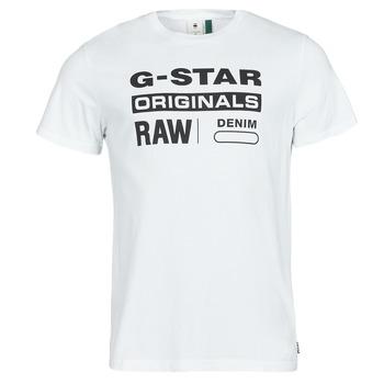 Textil Muži Trička s krátkým rukávem G-Star Raw GRAPHIC 8 R T SS Bílá