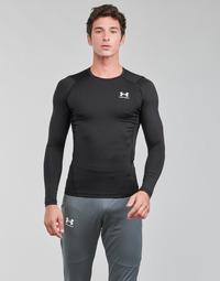 Textil Muži Trička s dlouhými rukávy Under Armour UA HG ARMOUR COMP LS Černá / Bílá
