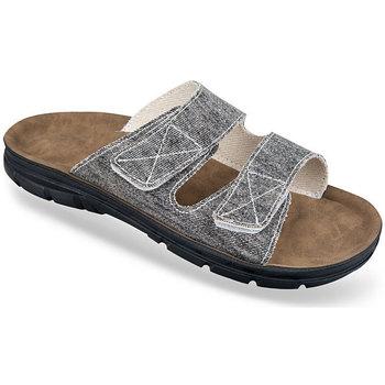 Boty Muži Dřeváky Mjartan Pánske tmavosivé papuče  JEANS tmavosivá