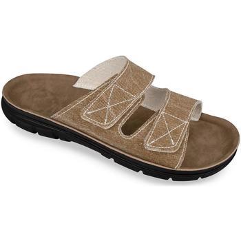 Boty Muži Dřeváky Mjartan Pánske hnedé papuče  JEANS khaki