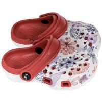 Boty Dívčí Pantofle John-C Detské červené crocsy LILLA červená