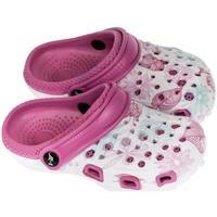 Boty Dívčí Pantofle John-C Detské tmavo-ružové crocsy LILLA ružová
