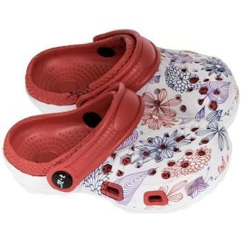 Boty Dívčí Pantofle John-C Detské červené crocsy LILLI červená
