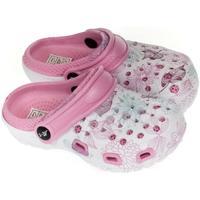 Boty Dívčí Pantofle John-C Detské svetlo-ružové crocsy LILLI ružová