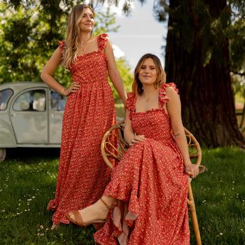 Textil Ženy Společenské šaty Céleste AURORE Červená