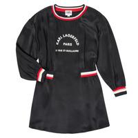 Textil Dívčí Krátké šaty Karl Lagerfeld RUBIS Černá