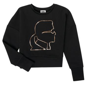 Textil Dívčí Mikiny Karl Lagerfeld CORNALINE Černá