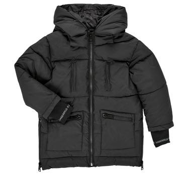 Textil Dívčí Prošívané bundy Karl Lagerfeld DIAMANT NOIR Černá