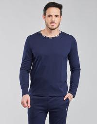 Textil Muži Trička s dlouhými rukávy Polo Ralph Lauren CREEW SLEEP TOP Tmavě modrá