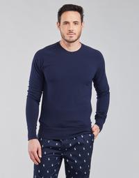 Textil Muži Trička s dlouhými rukávy Polo Ralph Lauren LS CREW SLEEP TOP Tmavě modrá