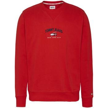 Textil Muži Mikiny Tommy Hilfiger Timeless Tommy Crew Červená