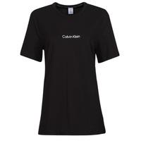 Textil Ženy Trička s krátkým rukávem Calvin Klein Jeans SS CREW NECK Černá