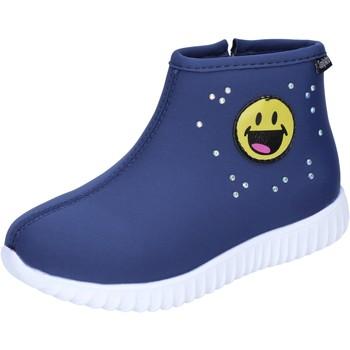 Boty Dívčí Polokozačky Smiley BJ991 Modrý