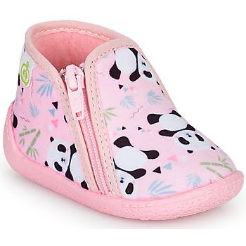 Boty Dívčí Papuče Citrouille et Compagnie PACARONI Růžová