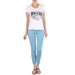 Textil Ženy Tříčtvrteční kalhoty Diesel LIVIER-ANKLE Modrá